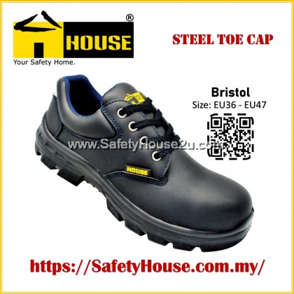 HOUSE BRISTOL SAFETY SHOES C/W STEEL TOE CAP & STEEL MID SOLE