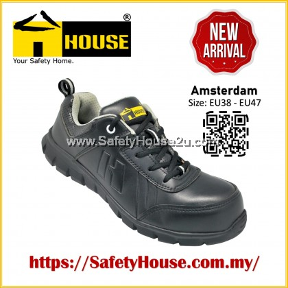 HOUSE AMSTERDAM SAFETY SHOES C/W COMPOSITE TOE CAP & ARAMID MID SOLE